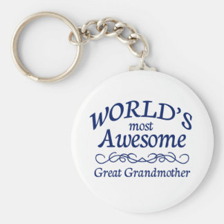 World's Most Awesome Great Grandmother Keychain