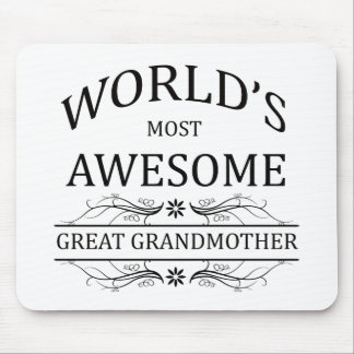 World's Most Awesome Great Grandmother Mouse Pad