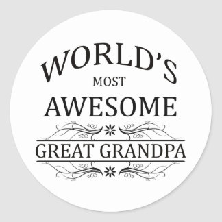 World's Most Awesome Great Grandpa Classic Round Sticker