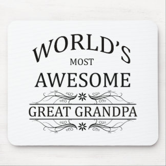 World's Most Awesome Great Grandpa Mouse Pad