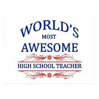 World's Most Awesome High School Teacher Postcard