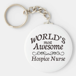World's Most Awesome Hospice Nurse Basic Round Button Keychain