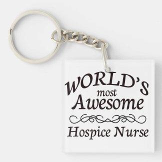 World's Most Awesome Hospice Nurse Keychain