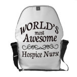 World's Most Awesome Hospice Nurse Messenger Bag