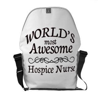 World's Most Awesome Hospice Nurse Messenger Bag