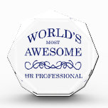 World's Most Awesome HR Professional Acrylic Award