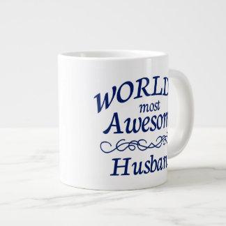 World's Most Awesome Husband 20 Oz Large Ceramic Coffee Mug