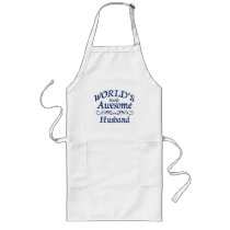 World's Most Awesome Husband Long Apron