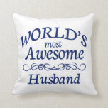 World's Most Awesome Husband Pillows