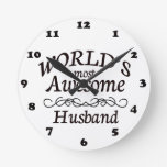 World's Most Awesome Husband Wallclock