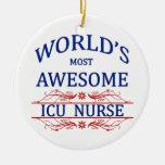 World's Most Awesome ICU Nurse Christmas Ornament