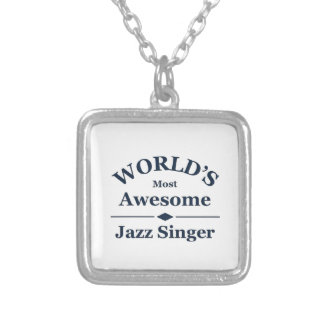 World's most awesome Jazz Singer Silver Plated Necklace