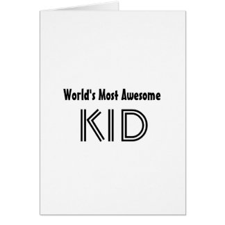 World's Most Awesome KID Card