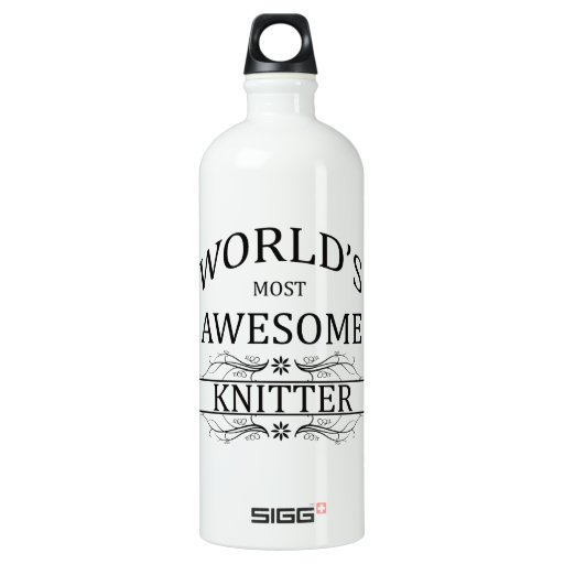 World's Most Awesome Knitter SIGG Traveler 1.0L Water Bottle