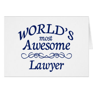 World's Most Awesome Lawyer Card