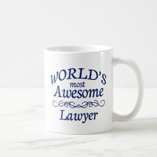 World's Most Awesome Lawyer Classic White Coffee Mug