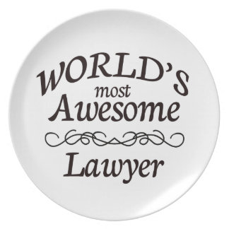 World's Most Awesome Lawyer Dinner Plate