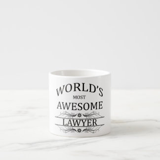 World's Most Awesome Lawyer Espresso Cups