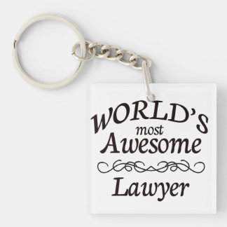 World's Most Awesome Lawyer Keychain