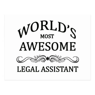 World's Most Awesome Legal Assistant Postcard