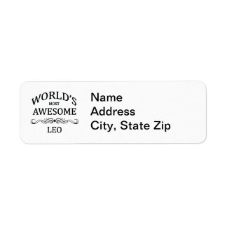World's Most Awesome Leo Label