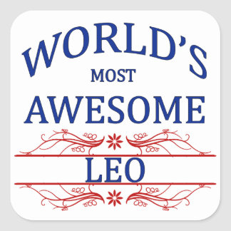 World's Most Awesome Leo Square Sticker