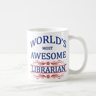 World's Most Awesome Librarian Coffee Mug