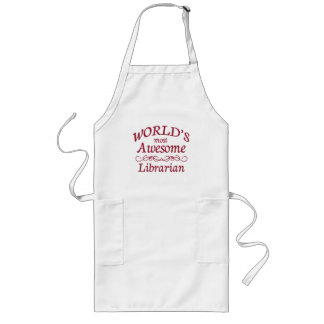 World's Most Awesome Librarian Long Apron
