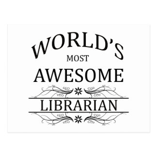 World's Most Awesome Librarian Postcard
