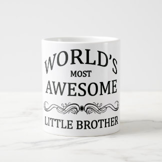World's Most Awesome Little Brother Giant Coffee Mug