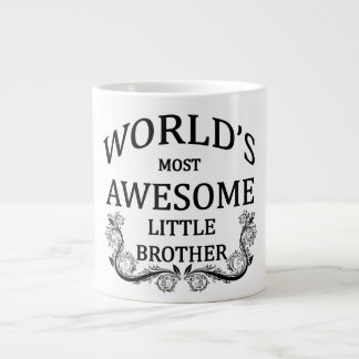 World's Most Awesome Little Brother Large Coffee Mug