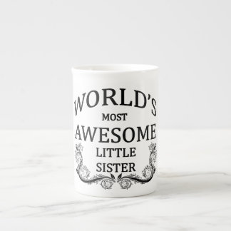 World's Most Awesome Little Sister Tea Cup