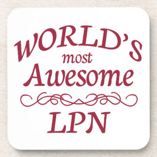 World's Most Awesome LPN Beverage Coaster