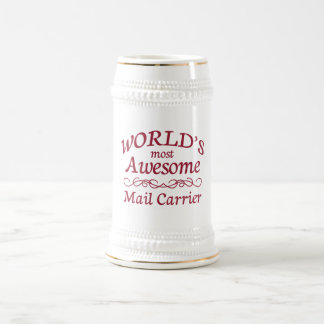 World's Most Awesome Mail Carrier Beer Stein
