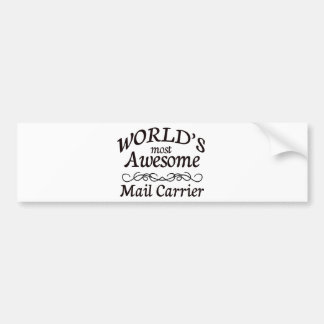 World's Most Awesome Mail Carrier Bumper Sticker