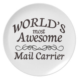 World's Most Awesome Mail Carrier Dinner Plate