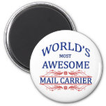 World's Most Awesome Mail Carrier Fridge Magnets