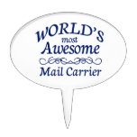 World's Most Awesome Mail Carrier Oval Cake Topper