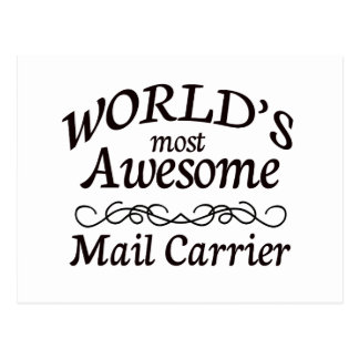 World's Most Awesome Mail Carrier Postcard