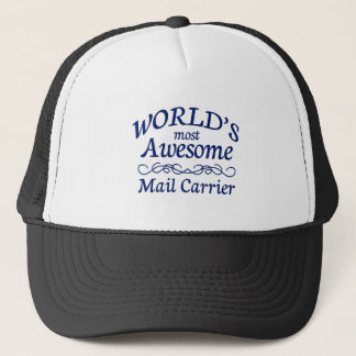 World's Most Awesome Mail Carrier Trucker Hat