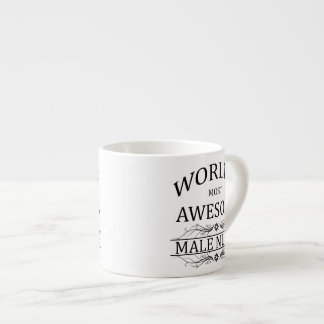 World's Most Awesome Male Nurse Espresso Cup