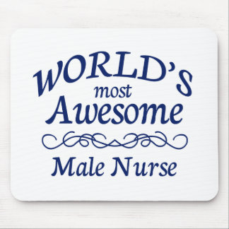 World's Most Awesome Male Nurse Mouse Pad