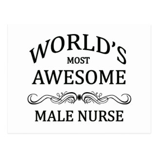 World's Most Awesome Male Nurse Postcard