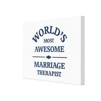 World's most awesome Marriage Therapist Canvas Print