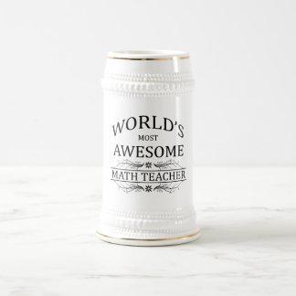 World's Most Awesome Math Teacher Beer Stein