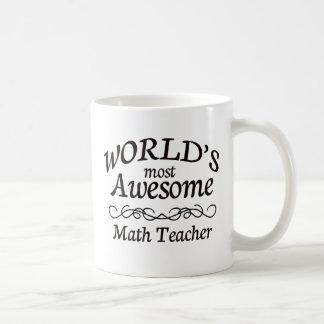 World's Most Awesome Math Teacher Coffee Mug