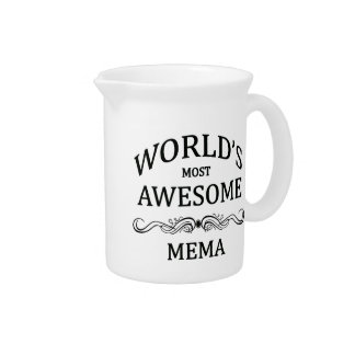 World's Most Awesome Mema Beverage Pitcher