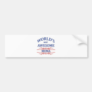 World's Most Awesome Mema Bumper Sticker