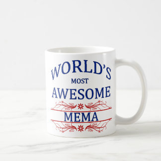 World's Most Awesome Mema Coffee Mug