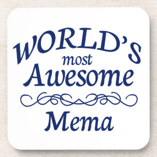 World's Most Awesome Mema Drink Coaster